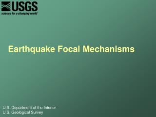 Earthquake Focal Mechanisms