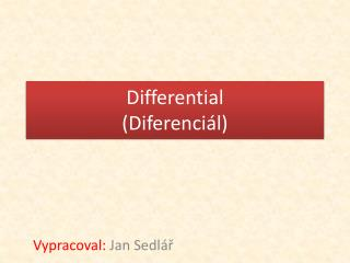Differential (Diferenciál)