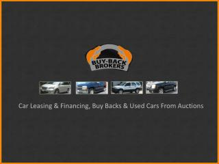 Car Leasing & Financing - Buy Back Brokers