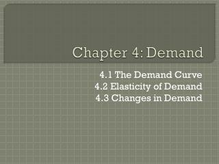 Chapter 4: Demand