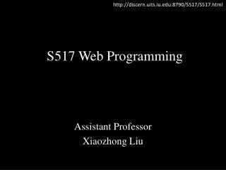 S517 Web Programming