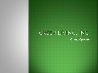 Green Living, Inc.