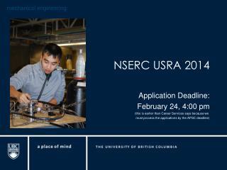 NSERC USRA 2014