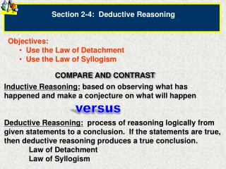 Section  2-4:   Deductive Reasoning