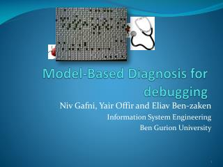 Model-Based Diagnosis for  d ebugging