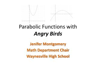 Parabolic Functions with  Angry Birds