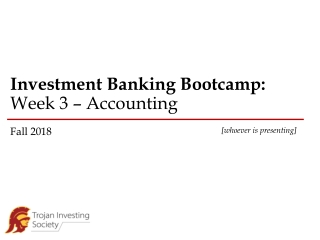 Bank Balance Sheets and Income Statements