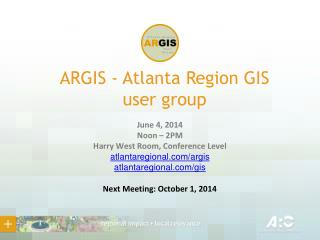 ARGIS - Atlanta Region  GIS  user group