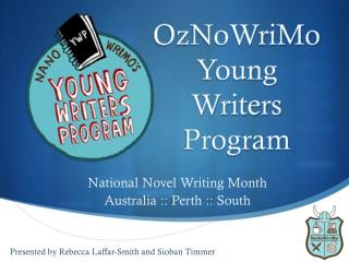 OzNoWriMo Young Writers Program