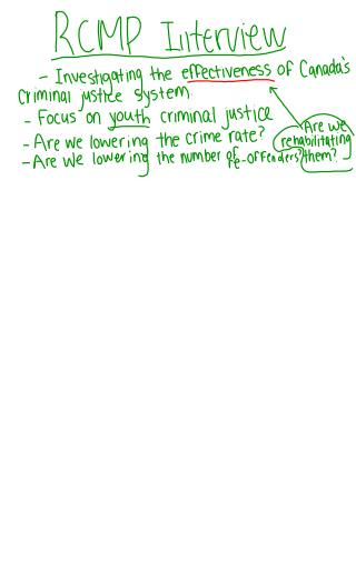 An understanding of the Youth Criminal Justice Act.  Passed February 2002.