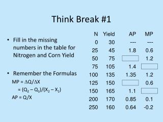 Think Break #1
