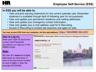 Employee Self-Service ESS