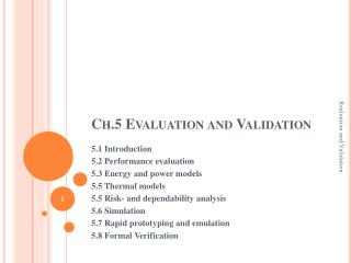 Ch.5 Evaluation and Validation