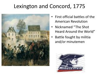 why did a war associated with lexington and also rapport happen