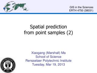 Spatial prediction  from point samples (2)