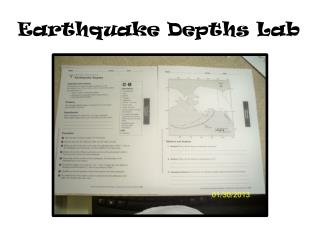 Earthquake Depths Lab