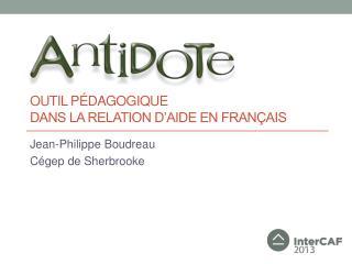 outil pédagogique dans la relation d'aide en français