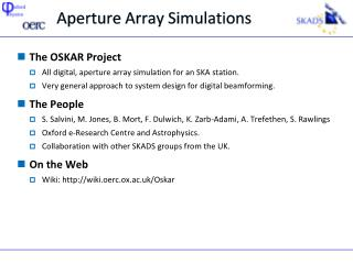Aperture Array Simulations