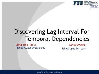 Discovering Lag Interval For Temporal Dependencies