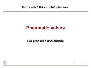 Pneumatic Valves
