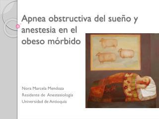 Apnea obstructiva del sueño y anestesia en el  obeso mórbido