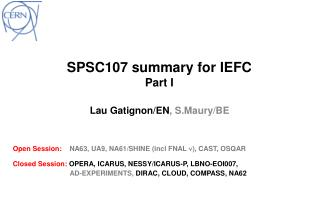 SPSC107  summary for  IEFC Part I