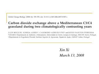 Xin Xi March 13, 2008