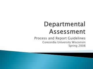 Departmental Assessment