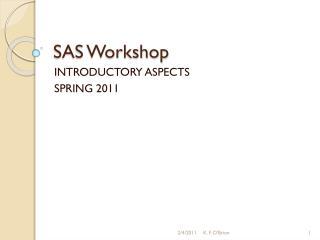 SAS Workshop