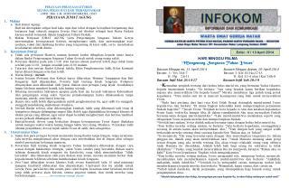 Edisi :  V / 13 April 2014