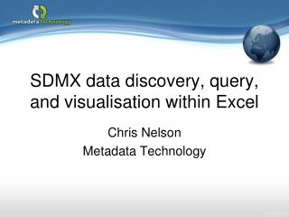 SDMX data discovery, query, and visualisation within Excel