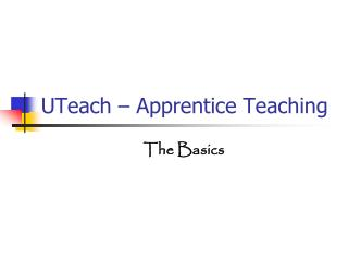 UTeach – Apprentice Teaching