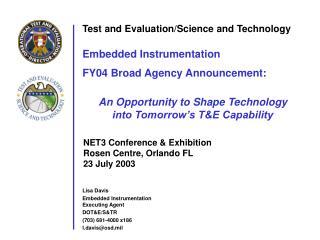 Lisa Davis Embedded Instrumentation Executing Agent