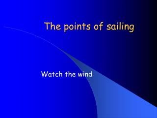 The points of sailing