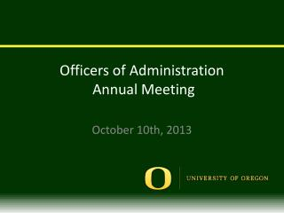 Officers  of Administration   Annual Meeting