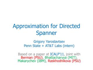 Approximation for Directed Spanner