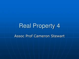 Real Property 4
