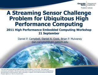 A Streaming Sensor Challenge Problem for Ubiquitous High Performance Computing