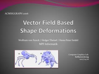 Vector Field Based  Shape Deformations