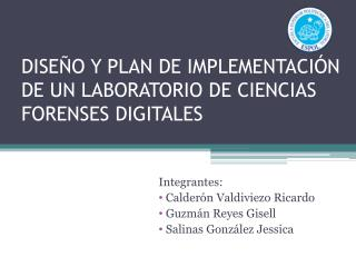 DISE�O Y PLAN DE IMPLEMENTACI�N DE UN LABORATORIO DE CIENCIAS FORENSES DIGITALES