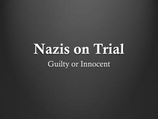 Nazis on Trial