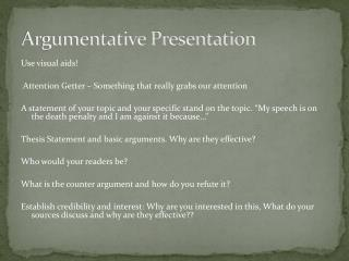 Argumentative Presentation