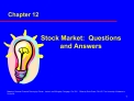 Stock Market:  Questions and Answers