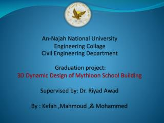 An- Najah  National University Engineering Collage Civil Engineering Department