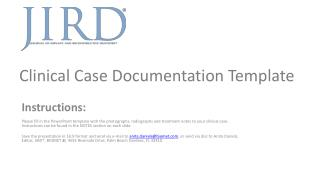 Clinical  Case Documentation Template