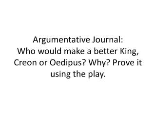 Argumentative Journal