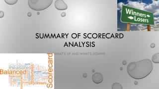 Summary of Scorecard Analysis