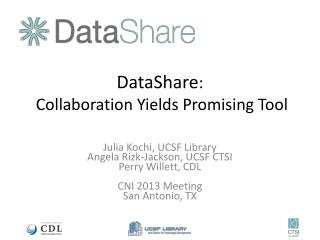 DataShare :  Collaboration Yields Promising Tool