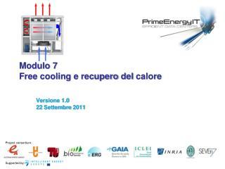Modulo 7 Free cooling  e  recupero  del  calore