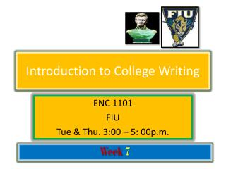 Introduction to College Writing
